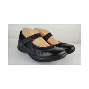 Clarks wave leather mary jane shoes sz 7 brown